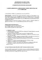 CR Conseil Municipal du 15 octobre 2020
