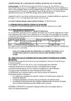 CR Conseil Municipal du 19 JUIN 2020