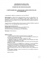 CR Conseil Municipal du 20 novembre 2020