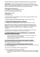 CR Conseil Municipal du 24 JUILLET 2020