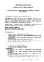 CR Conseil Municipal du 30 JANVIER 2021