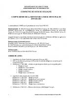CR Conseil Municipal du 20 mars 2021